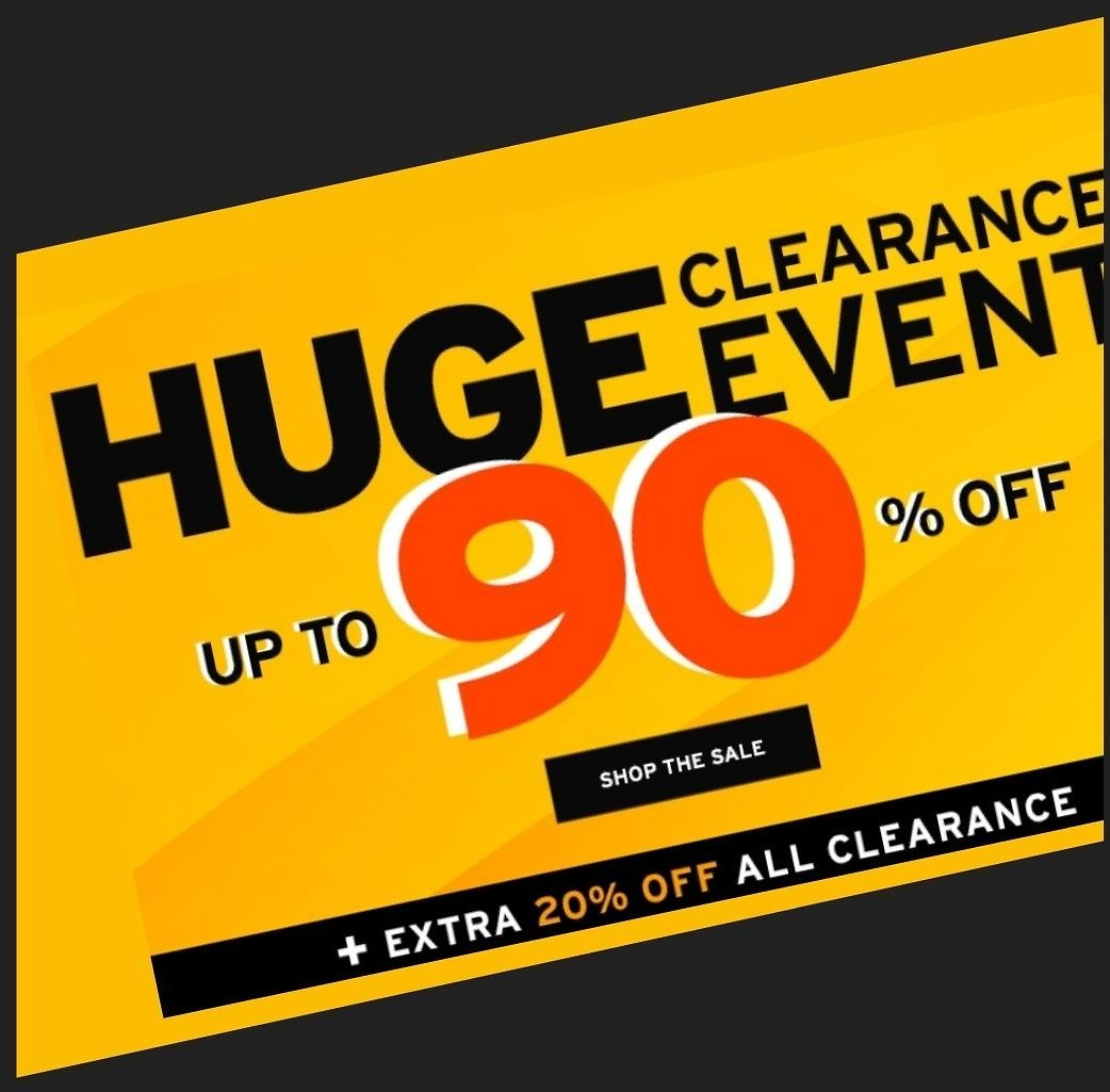 Up to 90% Off HUGE Clearance Event + Extra 20-25% Off