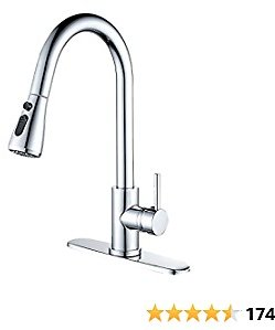 Pull-Down Kitchen Sink Faucets with Pull Out Sprayer,Etechydra Modern Stainless Steel Faucet for Kitchen,Pause Function High Arc 360 Degree Polished Chrome Kitchen Faucet