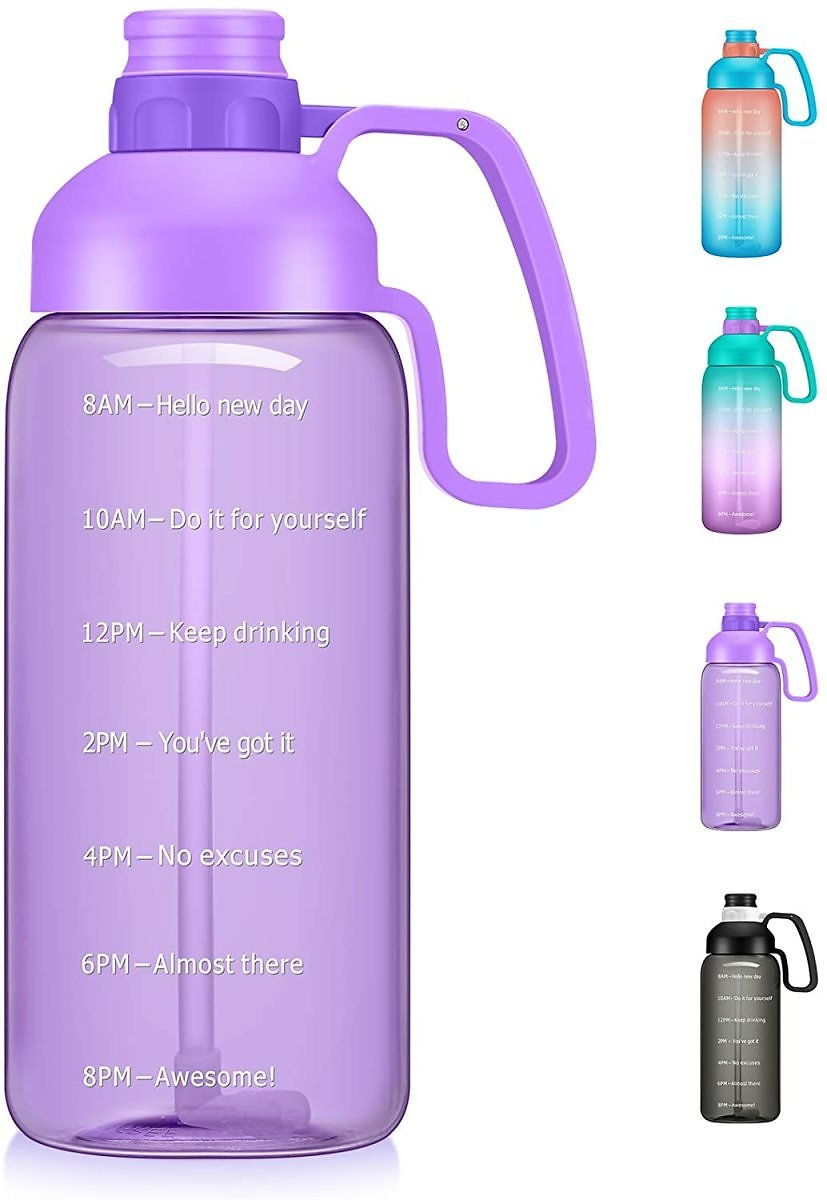 Podocarpus Large 64oz/Half Gallon Water Bottle with Straw for $6.80