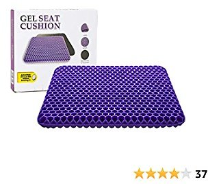 Gel Seat Cushion - Cooling Seat Cushion Thick Big Breathable Honeycomb Design Absorbs Pressure Points Seat Cushion with Non-Slip Cover Gel Cushion for Office Chair Home Cars Wheelchair