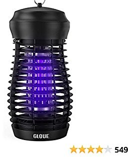 GLOUE Bug Zapper for Outdoor - 5FT Power Cable High Powered Waterproof Electric Mosquitoes Zapper Killer, Insect & Fly Trap , Light Bulb Lamp for Backyard, Garden, Patio, Home