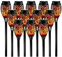 12-Pack Otdair Waterproof Solar Torch Lights with Flickering Flame for $26.99