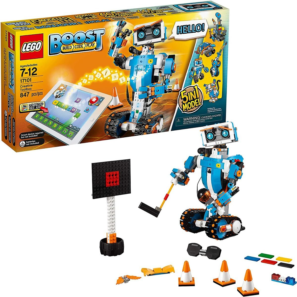 LEGO Boost Creative Toolbox 17101 Fun Robot Building Set and Educational Coding Kit for Kids $148.99
