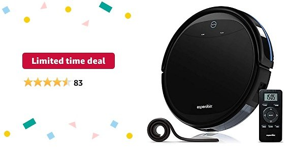 Limited-time Deal: Robotic Vacuum Cleaner,Experobot MasterClean X5 Vauum Cleaner 2600mAh Li-ion Battery with Self-Charging,Smart Sensor NO Drop/Collision, Multiple Cleaning Modes Vacuum Cleaner