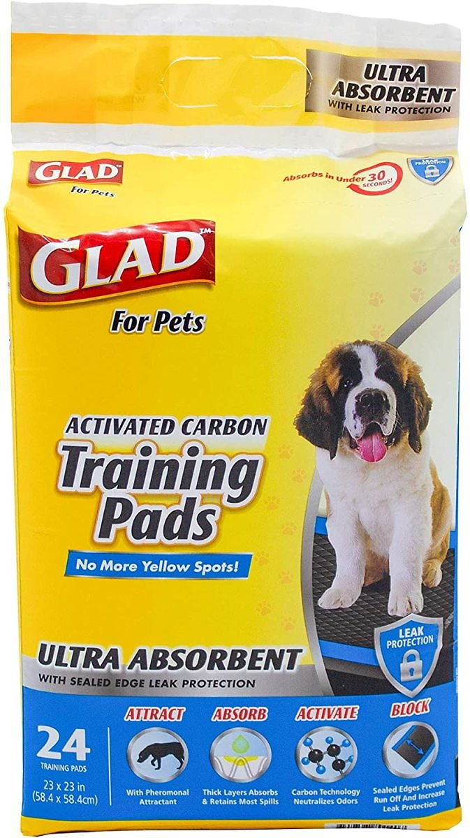 Glad Pets Heavy Duty Ultra-Absorbent Activated Charcoal Dog Training Pads for $5.27