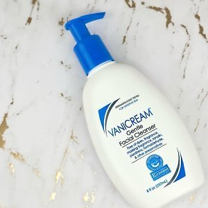 Vanicream Gentle Facial Cleanser with Pump Dispenser For $8.42