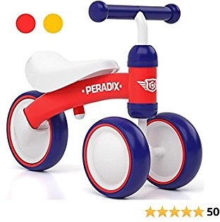 Peradix Baby Balance Bikes, 10-36 Month Children Walker, Toys for 1 Year Old Boys Girls, No Pedal Infant 3 Wheels Toddler Bicycle for Best First Birthday Gift to Baby