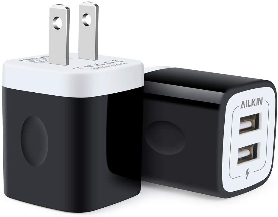 USB Wall Charger, Charger Block, Ailkin 2.1A Multiport Fast Charge $9.34