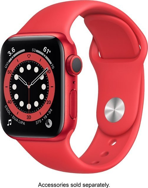 Apple Watch Series 6 (GPS) 40mm (PRODUCT)RED Aluminum Case with (PRODUCT)RED Sport Band (PRODUCT)RED M00A3LL/A