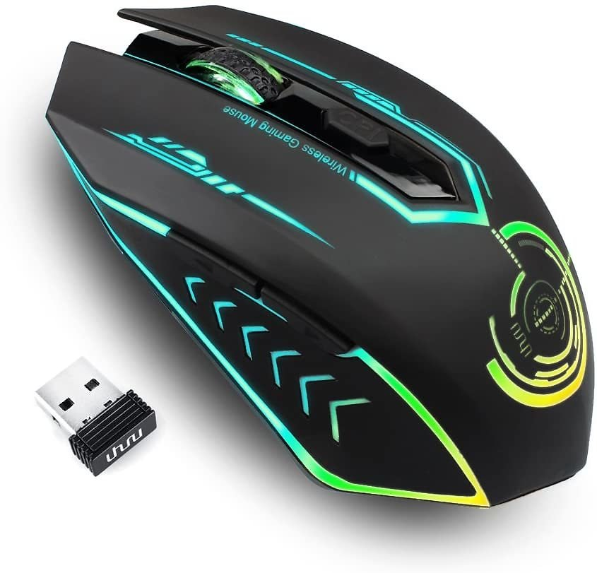 Uhuru Up to 10000 DPI Rechargeable Wireless Gaming Mouse for $20.39
