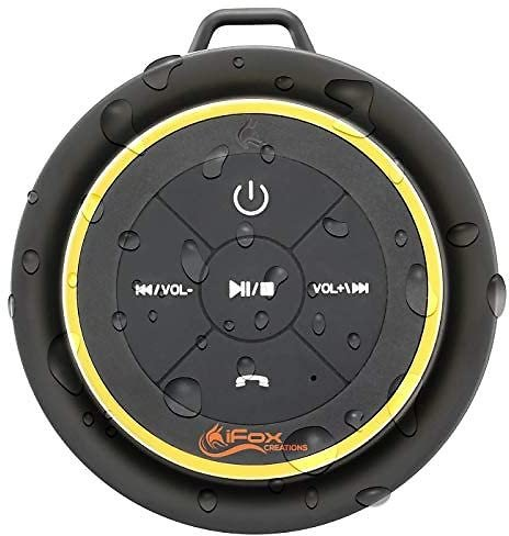 Waterproof Bluetooth Speaker with Suction Cup On Back
