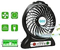 Coo Portable USB Fan with Flashlight for $7.14
