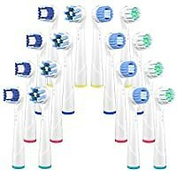 16-Pack Uliber Replacement Brush Heads Compatible with Oral B Braun for $4.43