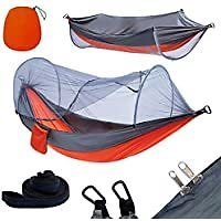 Yoomo Camping Hammock with Mosquito Net & Tree Straps for $26.39