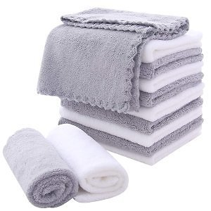 MoonQueen Microfiber Facial Cloths Fast Drying Washcloth 12 Pack $5.86