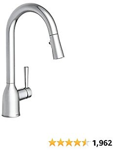 Moen 87233 Adler One-Handle High Arc Pulldown Kitchen Faucet with Power Clean, Chrome