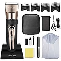 Tofuls Professional Cordless Rechargeable Men's Hair Clippers for $23.50