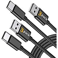 3-Pack Marge Plus 6-Foot Braided USB C Cable for $3.49