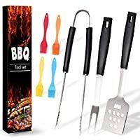 7-Pieces Ranphykx Stainless Steel BBQ Grill Tool Set for $7.99