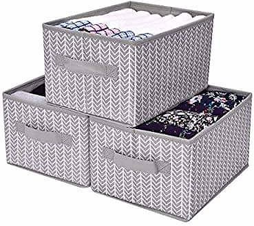 GRANNY SAYS Storage Bin for Shelves, 3 Pack Promo Code 50IUUPDG, Through 7/31 While Supplies Last.