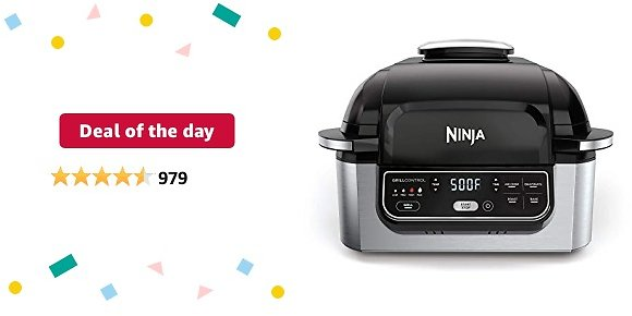 Deal of The Day: Ninja Foodi 5-in-1 4-qt. Air Fryer, Roast, Bake, Dehydrate Indoor Electric Grill (AG301), 10