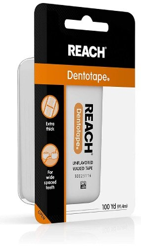 Reach Dentotape Waxed Dental Floss W/Wide Cleaning Surface