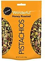 Wonderful No Shells Honey Roasted Pistachios 5.5 Oz Resealable Pouch for $4.45