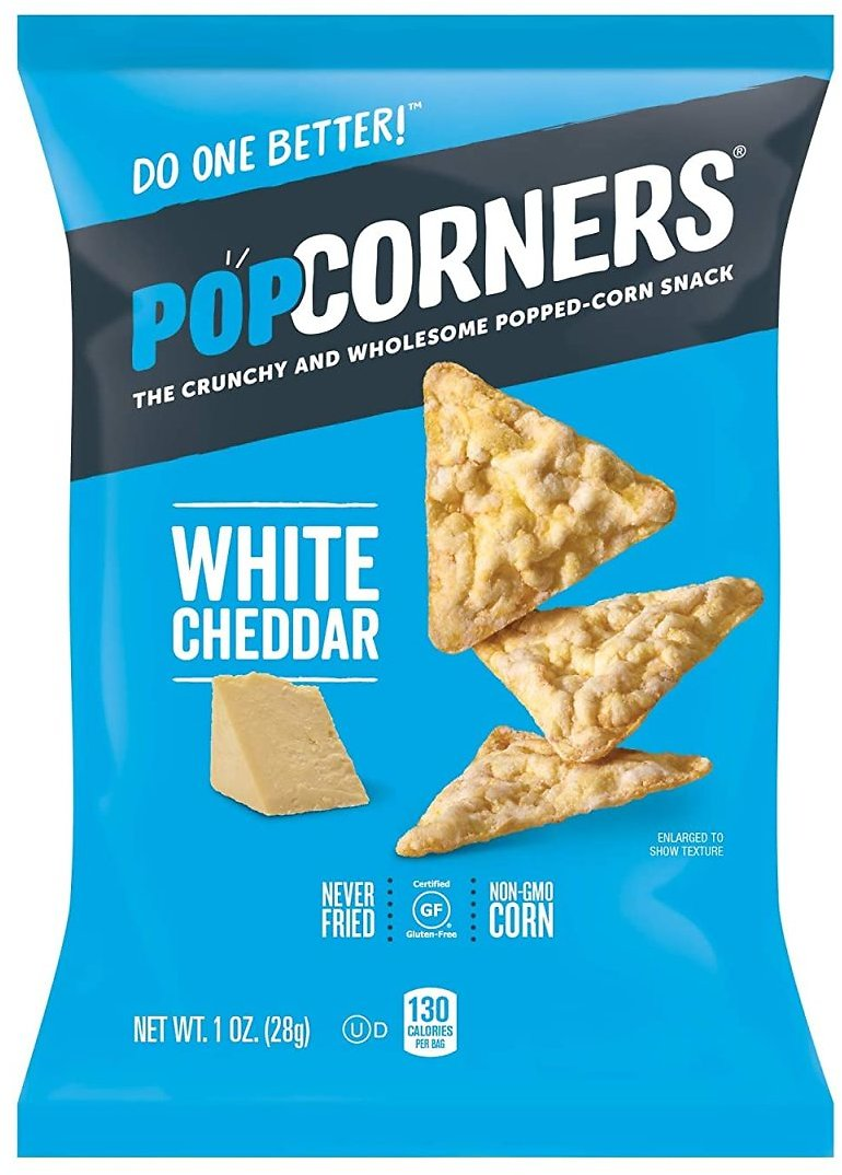 20-Pack Popcorners Snack Pack Gluten Free Chips, White Cheddar