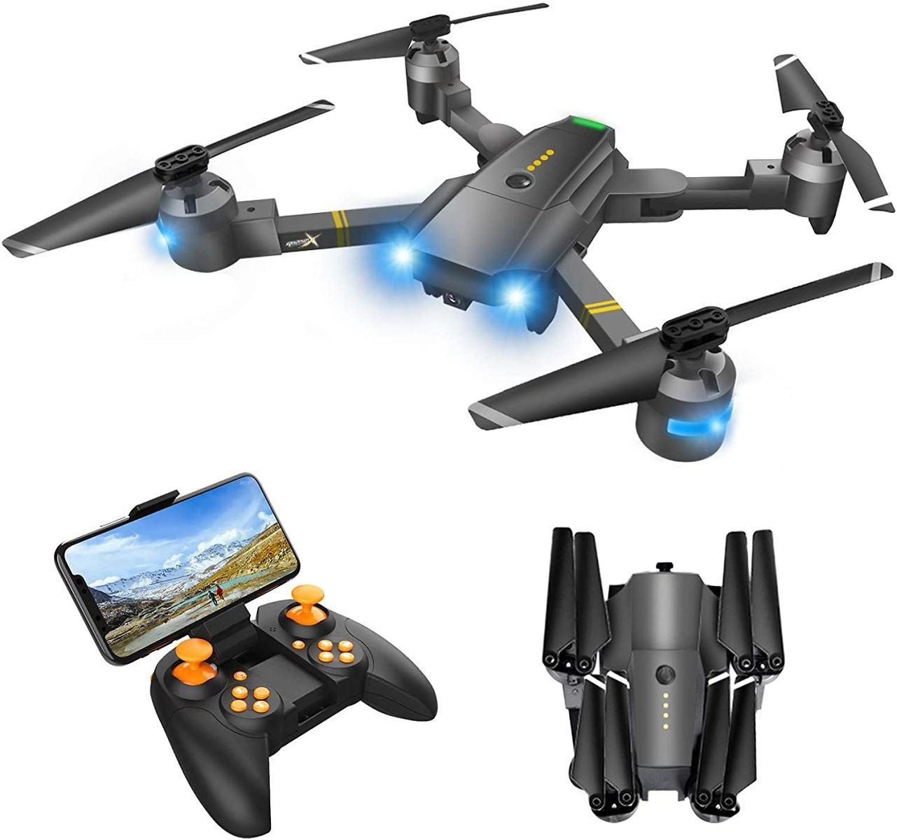 Attop RC Quadcopter Drone with Camera