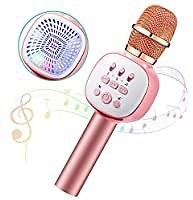 Anyoug 5 in 1 Portable Car Karaoke Microphone Speaker with LED Lights for $17.39