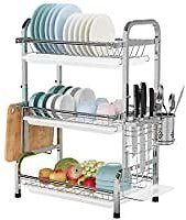 Warmfill 3 Tier Stainless Steel Large Capacity Dish Drying Rack for $28.99