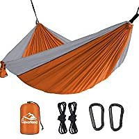 Favorland Camping Hammock Double & Single with Tree Straps for $9.99