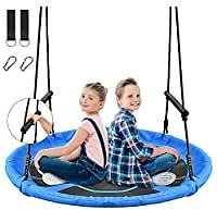 Treeswin Saucer 46 Inch 800 Lb Weight Capacity Outdoor Flying Swing for $59.99