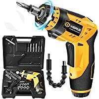Vigrue 4V MAX Cordless Electric Screwdriver with 45 Free Accessories for $22.99