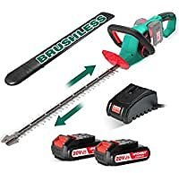 HYCHIKA Brushless 40V Cordless Hedge Trimmer with Battery for $49.99