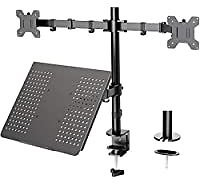 Huanuo Height Adjustable Dual Monitor Mount for $24.50