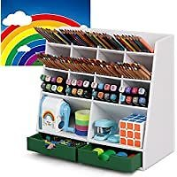 DF Darfoo Pen Pencil Organizer with 14 Compartments & 2 Drawers for $11.39