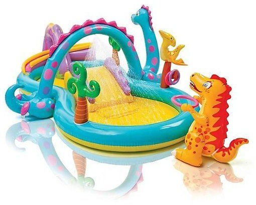 Intex 11ft X 7.5ft X 44in Dinoland Kids' Inflatable Pool