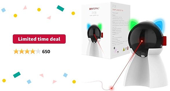Limited-time Deal: BENTOPAL Laser Cat Toys for Indoor Cats/Dogs, Interactive Cat Toys with Motion Activated