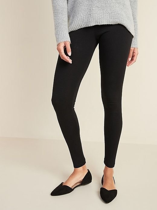 Old Navy Womens Mid-Rise Jersey Leggings