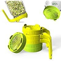 6-Pack Rirpuae Plastic Sprout Lid with Screens for Wide Mouth Mason Jars for $6.99
