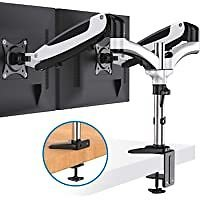 Huanuo Dual Motion Monitor Arm Stand with Clamp for $28.00