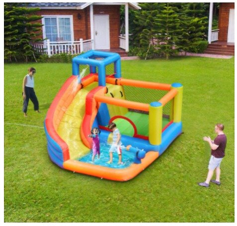 Doctor Dolphin Inflatable Bounce House Jumper W/Water Slide