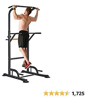 RELIFE REBUILD YOUR LIFE Power Tower Pull Up Dip Station for Home Gym Adjustable Height Strength Training Workout Equipment Fro.