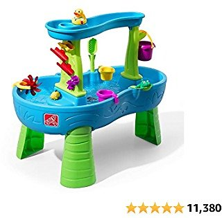 Step2 Rain Showers Splash Pond Water Table   Kids Water Play Table with 13-Pc Accessory Set from Amazon.