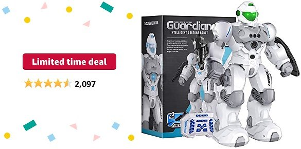 Limited-time Deal: Sonomo Toys for 6-9 Year Old Boys, RC Robot Gifts for Kids Intelligent Programmable Robot with 2.4GHz Sensing Gesture Control - Upgraded Version