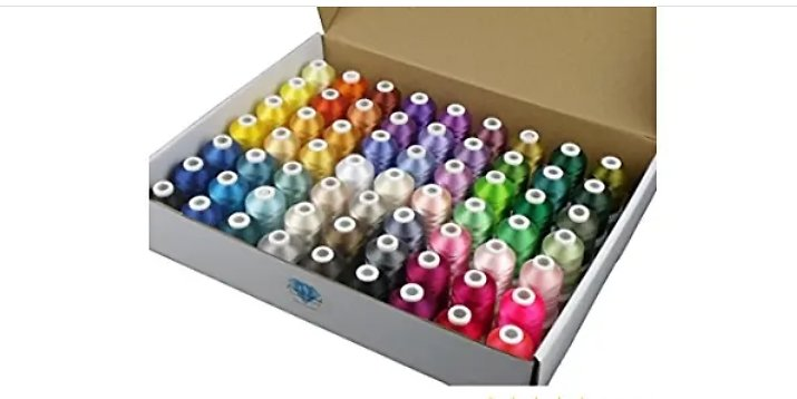 Simthread 63 Brother Colors Polyester Embroidery Machine Thread Kit🧵 from Amazon.