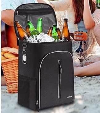 Insulated Cooler Backpack 45 Cans Leak-Proof Soft ✨ from Amazon.