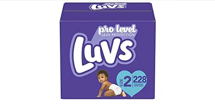 228-Count Luvs Ultra Leakguards Disposable Baby Diapers, Diapers Size 2 (add 3 Units to Cart) from Amazon.com (Sold & Shipped Di