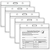 5-Pack Teskyer 4 X 3 Inch CDC Vaccination Card Protector for $5.00